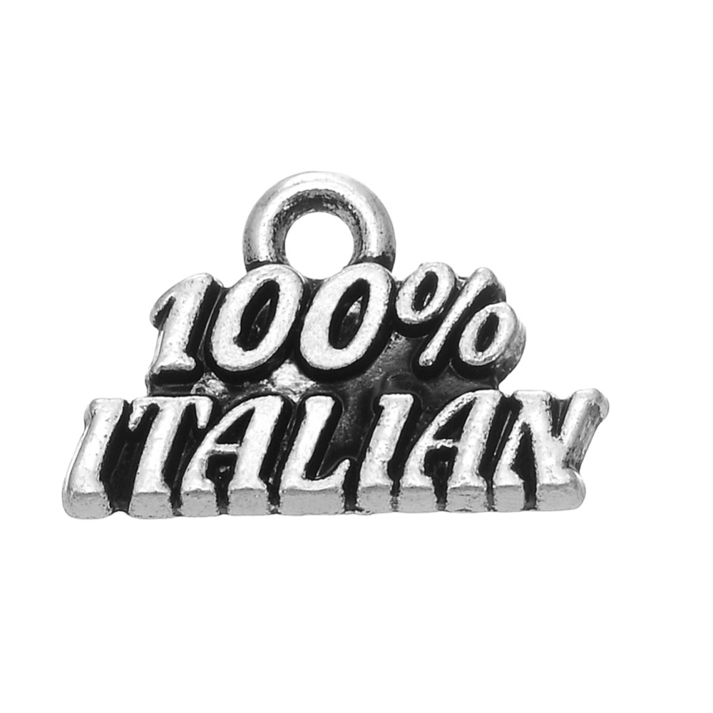 metal text pendants jewelry 100% Italian charms(China (Mainland))