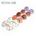 ROYAL GIRL Pretty Quality Women Brand Designer Sunglasses Oversize Unique Round Wire Sun Glasses Gradient Eyeglasses