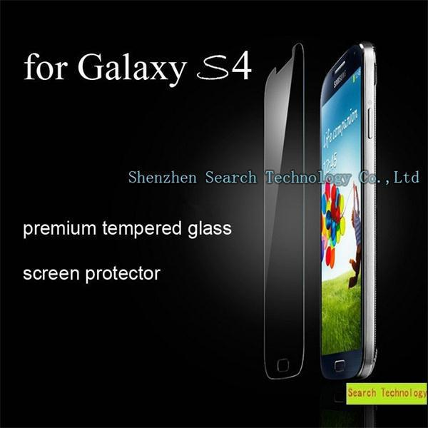 20pcs/lot Premium 0.3mm 9H 2.5D Tempered Glass Screen Protector For Samsung Galaxy S4 Explosion HD Toughened Protective Film(China (Mainland))