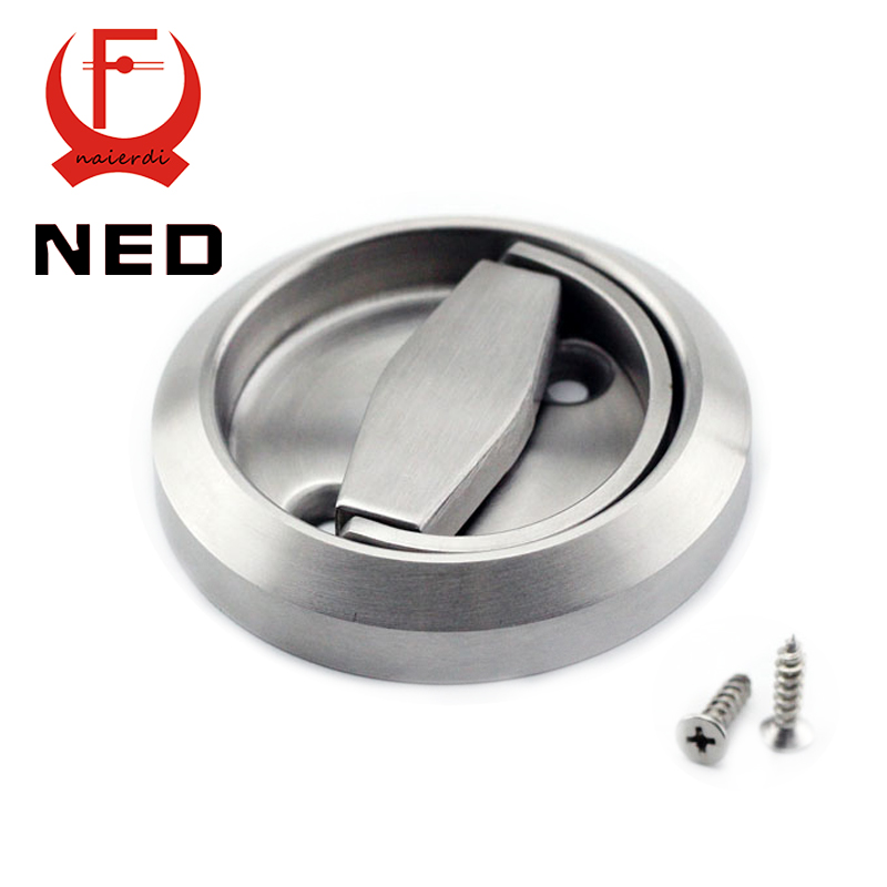NED 2 Pieces/Set 304 Stainless Steel Cup Handle Recessed Invisible Pull Door Handles Cabinet For Fire Proof Home Use(China (Mainland))