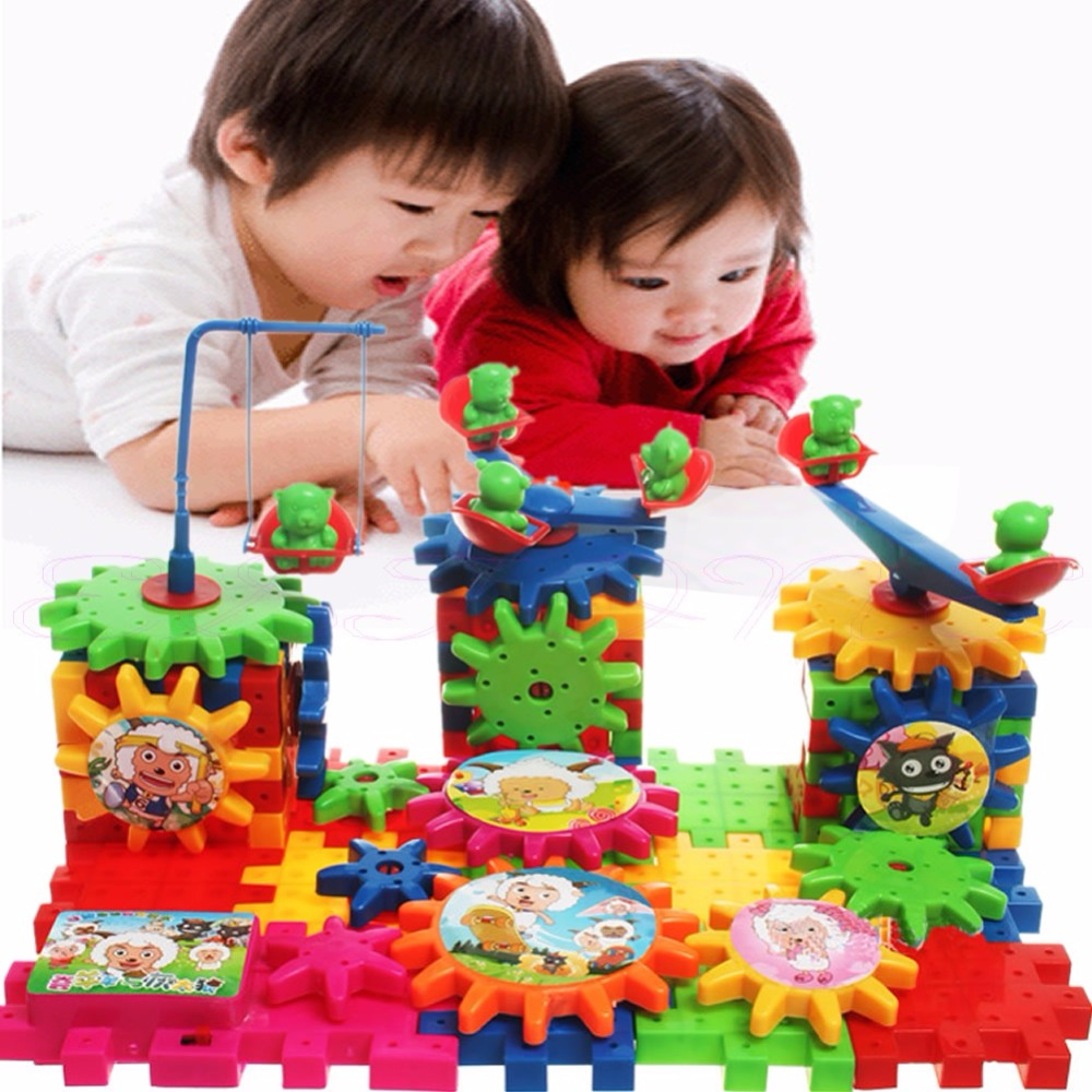 Kids Baby Electric Gears Combination Educational Changeable Blocks Building Toy(China (Mainland))