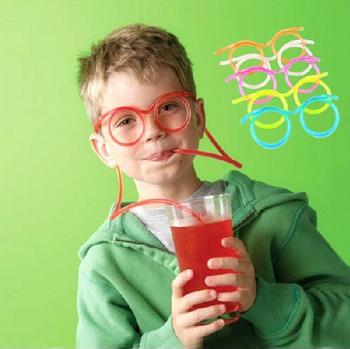 1 шт. новинка ну вечеринку пунктов смешно глупый удивительный соломы multi-цветы очки соломинкой оправы