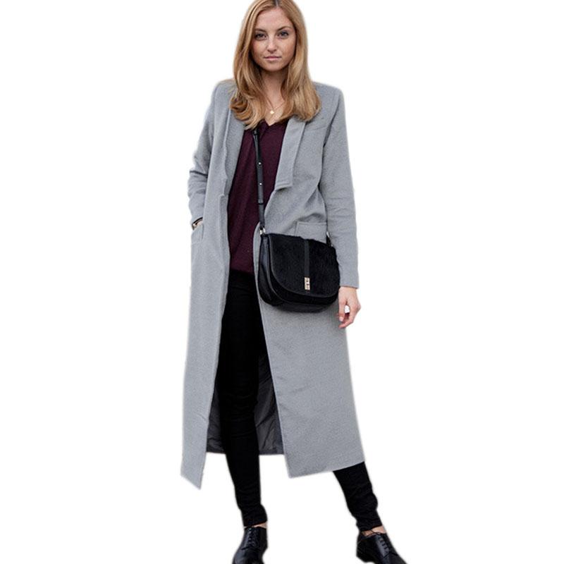 Women Woolen Cotton Coats Jackets 2015 Fashion Cashmere X-Long Winter Warm Coats Outwear Overcoats mulheres casacos de la Одежда и ак�е��уары<br><br><br>Aliexpress