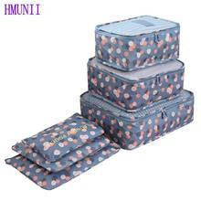 6PCS/Set High Quality Oxford Cloth Travel Mesh Bag Luggage Organizer Packing Cube Organiser Travel Bags(China (Mainland))