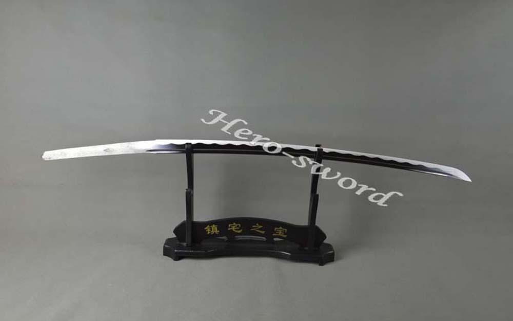 Hand Forged T1060 High carbon steel Japanese samurai sword blade Full Tang katana blade Razor sharp Knife blade(China (Mainland))