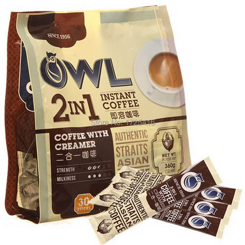 Owl Singapore in 2015 to import coffee 2 in 1 instant coffee 360 g free shipping