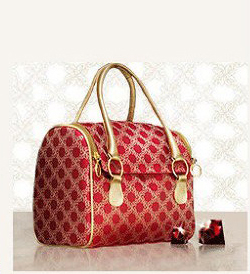 H1170 OO Cute Sweet Natural Swedish Cosmetic  bag Set Of 2 Pieces Red Floral Zipper make up Bag FREE SHIPPING