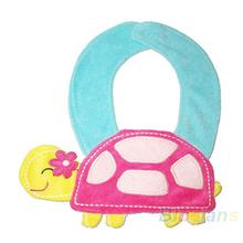 Unisex Baby Boy Girl Kids Infant 3D Animal Bib Lunch Bibs Cute Cartoon Soft Saliva Towel