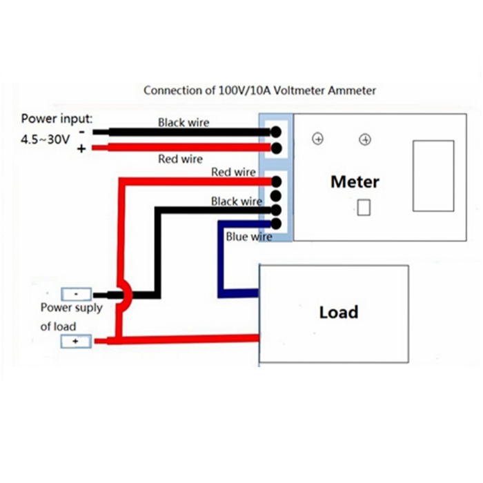 digital volt amp meter wiring diagram  digital  free