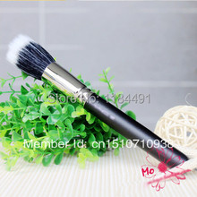 Free shipping 1x Makeup Cosmetic Beauty Duo Fiber Stippler Blush Foundation Powder Brush Black A2162 rd4fH