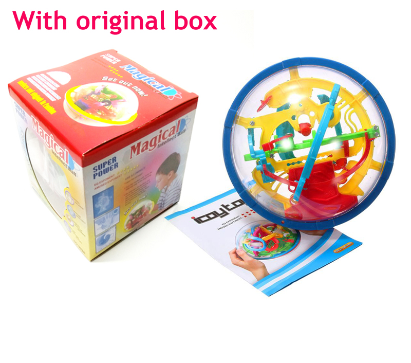 Mini 100 level 3D Magic Maze Ball perplexus magical intellect ball educational toys Marble Puzzle Game IQ Balance toy with box(China (Mainland))