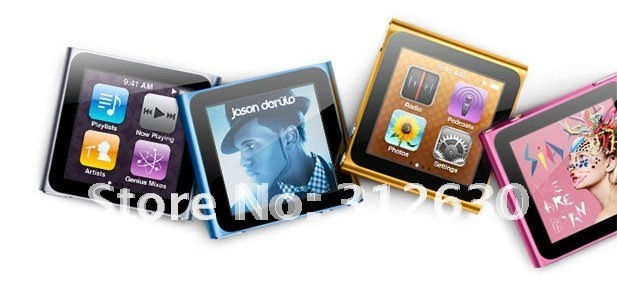 10pcs/1.8 inch 6th 16GB MP3 MP4 player,brand new 6th generation 16G Mp4 player,portable digital mp4 player,fast free shipping