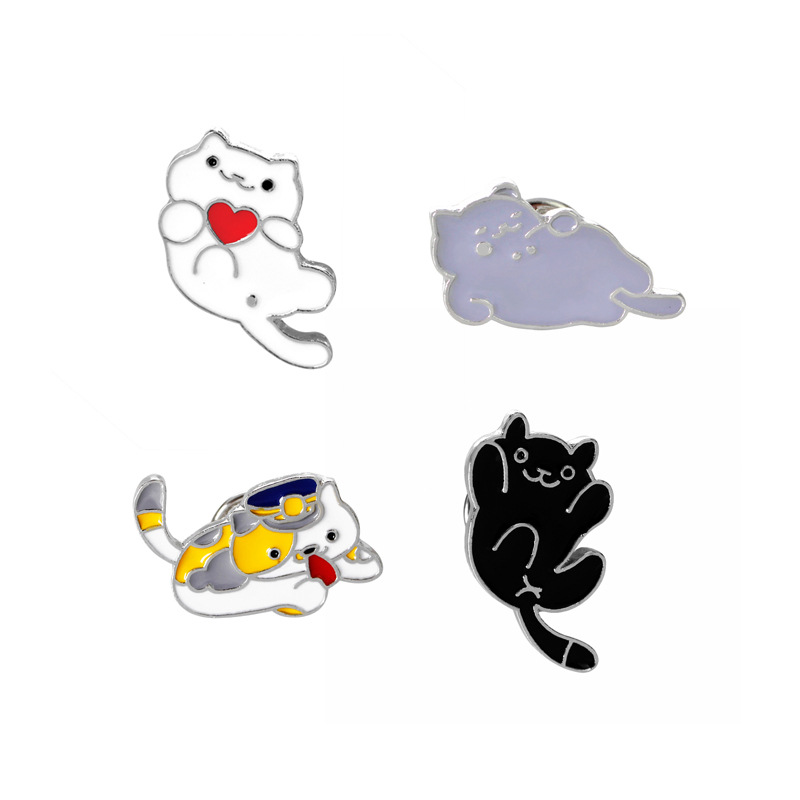 Meow Star People Drip Cute Cat Brooch Brooches Pins Micro Chapter Accessories The Beautiful Girl Gift Brooch(China (Mainland))