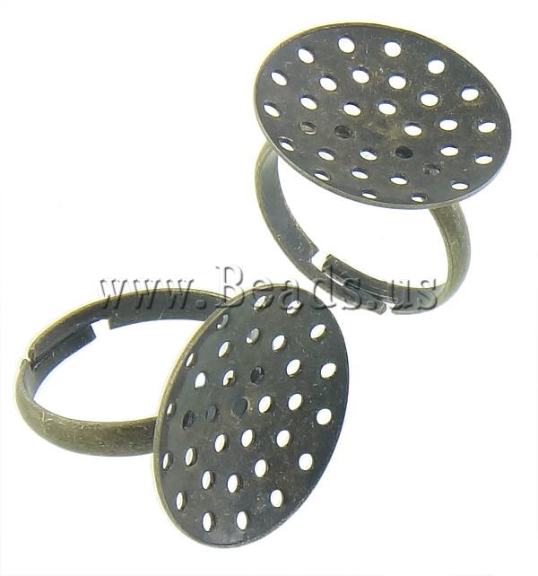 Free shipping!!!Brass Sieve Ring Base,Wholesale Jewelry, antique bronze color plated, nickel, lead & cadmium free