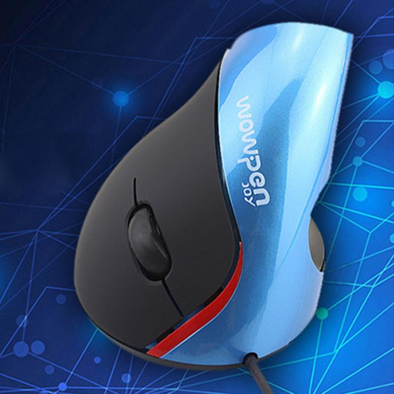 New Hot Selling Human Engineering Mouse Delux Wired Ergonomics Vertical Mouse for PC computer laptop drop Anti-Slip Mouse(China (Mainland))