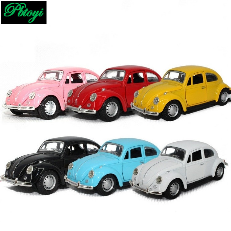 Free shipping vintage classic cars police model car alloy toys baby educational scale models cheap high quality beetle car toys(China (Mainland))
