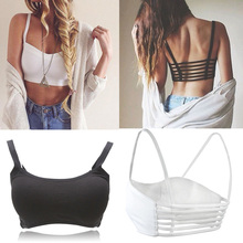 Newest Celebrity Sexy Women Bralette Cage Caged Back Cut Out Padded Bra Bralet Cotton Sports Bra Vest Crop Tops Blusa(China (Mainland))