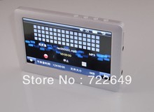 """Hot Sale T13 4.3"""" HD Touch Screen FM Radio Video TV Out E-book Game 8GB MP4 MP5 Player 5pcs(China (Mainland))"""
