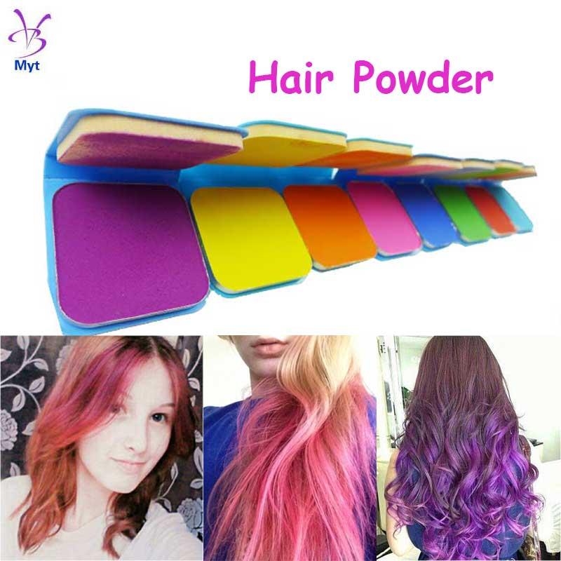 Myt High Quality Blue Cake Hair Dye Chalks for the Hair Hair Chalk Powder Temporary Hair Color Dye(China (Mainland))