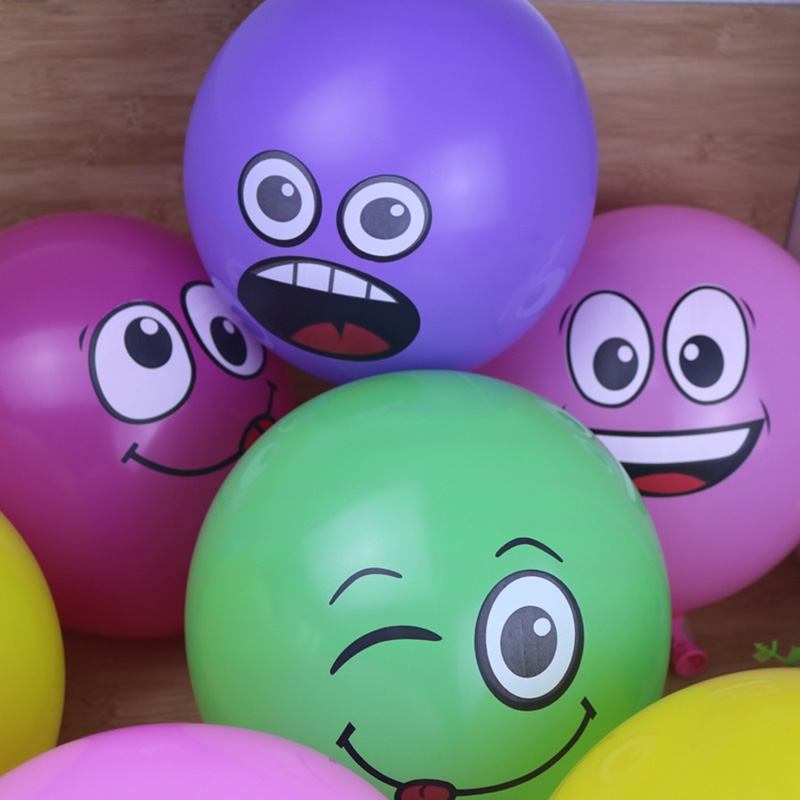 50 pcs12inch 2.8g Smile Face Latex Balloons Party Birthday Decoration Helium Print Balloon Balony Toys Mixed color(China (Mainland))