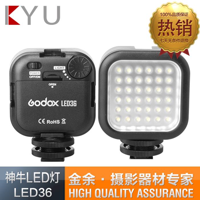 Godox LED36 LED Video Light Adjustable Outdoor 36 Lights DSLR Camera Camcorder mini DVR - Photographic Accessories Store store