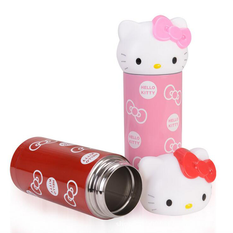 Hot Selling Water Thermoses, 360ml Kawaii Hello Kitty Vacuum Flask, Made of Stainless Steel With Two Colors To Choose(China (Mainland))