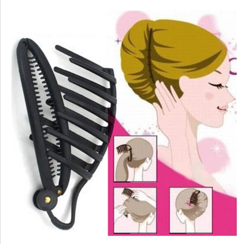 Fashion Maker Styling Braiding Tool Flaxen Hair Tools Black Hair Bun Clip And Comb(China (Mainland))