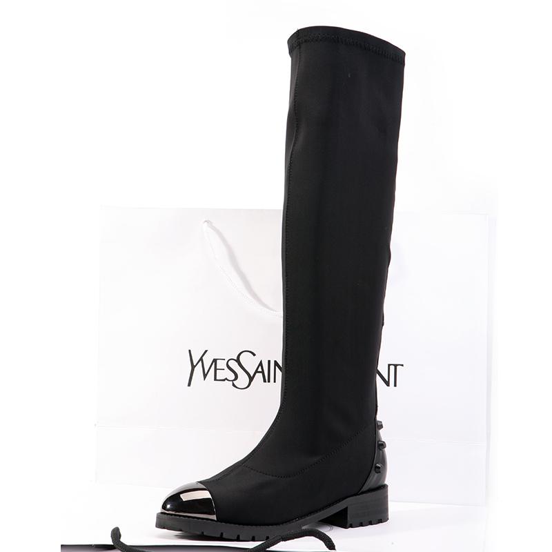 2013 autumn winter boots rivet stretch fabric single fashion high-leg martin - Guanlongkeji store