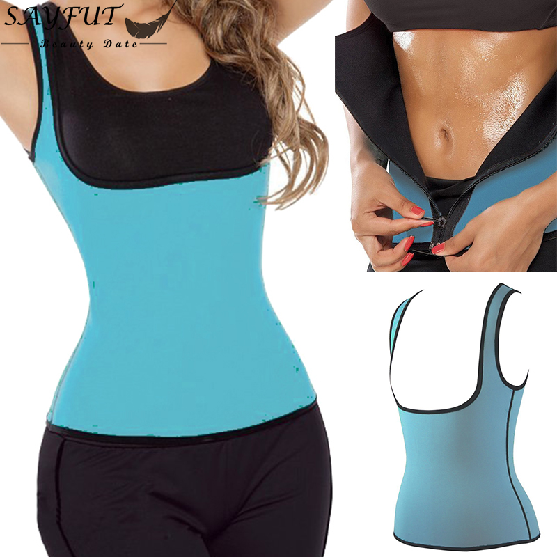 Women Waist Training Corsets And Bustiers Sweating Gym Exercise Zipper Neoprene Vest Underbust Corset Body Shapewear Corselet(China (Mainland))