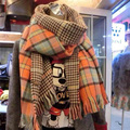 Za 2015 Fashion Wool Winter Plaid Scarf Women Warm Cashmere Tartan Scarf Echarpes Scarves Shawl WJ
