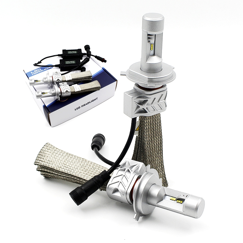 2Pcs/Set Hi/Lo Beam Integration PHI-ZES LED Car Headlight H4 22W 4000LM White 6500K Light Source Conversion Kit Front Auto Bulb(China (Mainland))