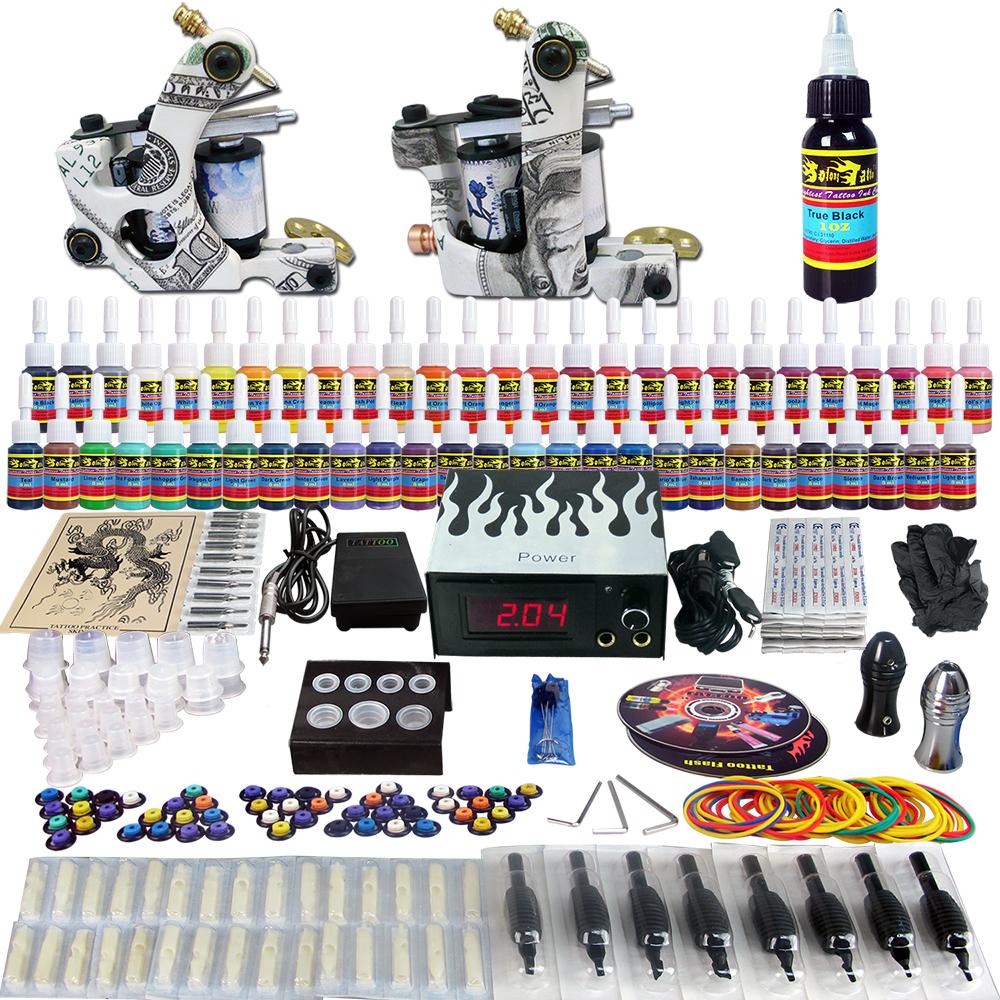 Здесь можно купить  Solong tattoo Pro Tattoo Kits 2 Tattoo Machine Guns Power Supply Foot Pedal Needle Grips Tips Taty Ink Set TK252  Красота и здоровье