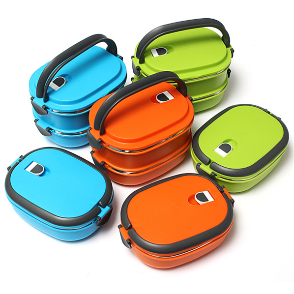 New Fashion Korean Lunch Box Eco-Friendly Lunch Containers Multicolor Optional Dinnerware Sets Wholesale(China (Mainland))