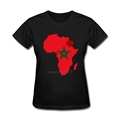 african heart of morocco Tee Shirts Plus Size Womens Round Neck T Shirts Cheap Sale Natural
