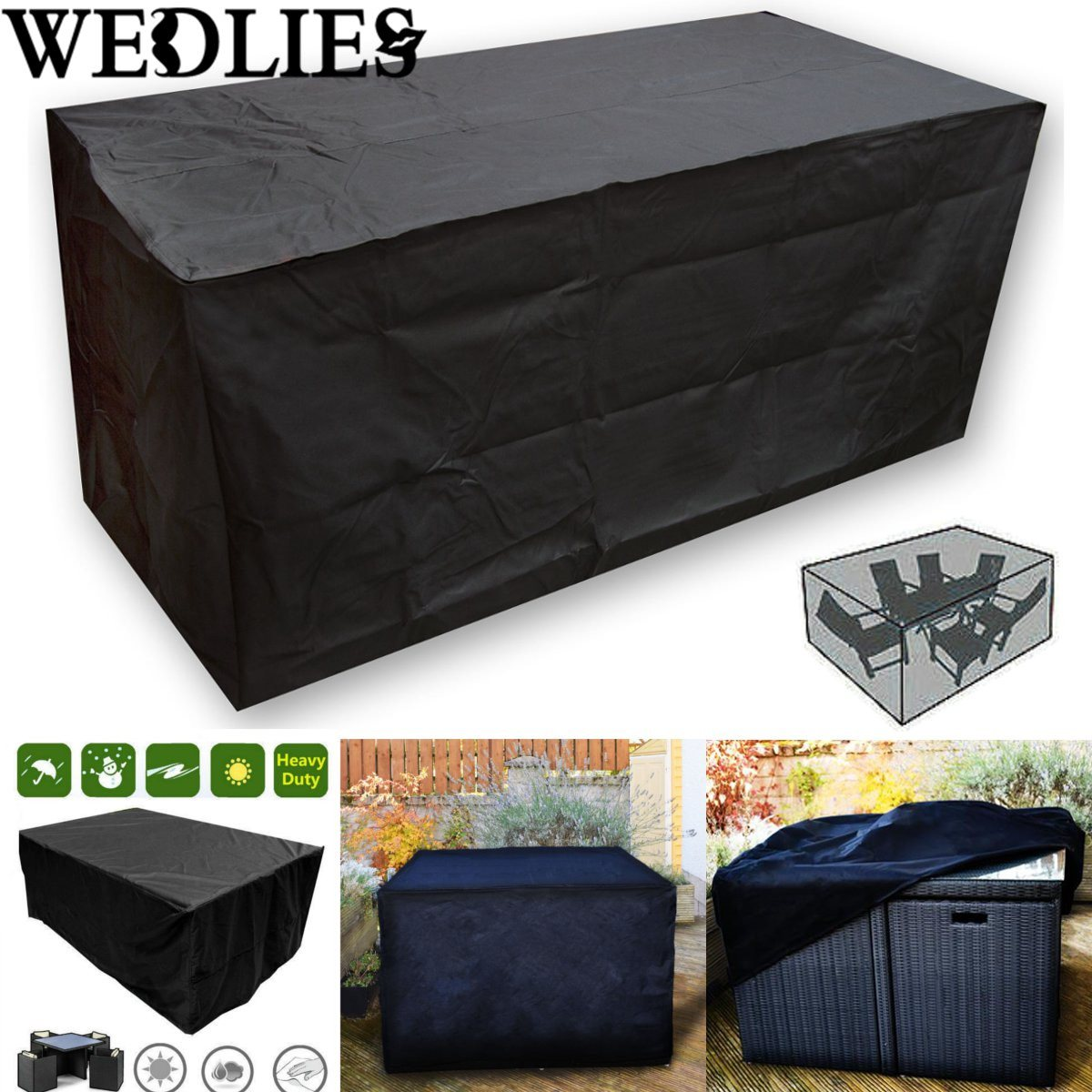Waterproof Outdoor Patio Furniture Set Cover 205X104X71cm Garden Table Protective Cover Dustproof Table Cloth Home Textile(China (Mainland))
