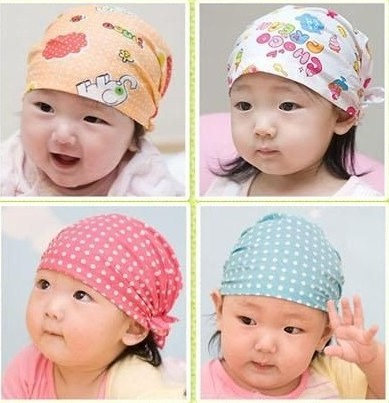 Cute animal print baby hat pirate cap kids cotton elastic beanie for 0.5-2 year old boy & girl,bonnet newborn photography props(China (Mainland))