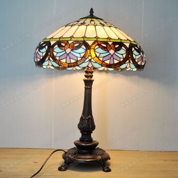 18 Cunxin shaped European Baroque Tiffany lamps bedroom living room decorated with glass bar lamps retro nostalgia