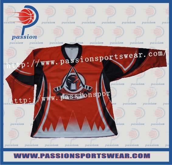 Custom Team Set Sublimated Ice Hockey Uniform(China (Mainland))