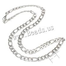 Buy YYW 6 Size Punk Rock Men Women Steel Figaro Chain Stainless Steel Necklace Jewelry Accessories Long Link Sweaterchain Necklace for $1.35 in AliExpress store