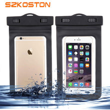 Buy Clear Waterproof Mobile Phone Bags Strap Dry Pouch Cases Cover iPhone 4/ 4s/5s/6/6s/7/meizu m3s/m3 note Snowproof Case for $1.39 in AliExpress store