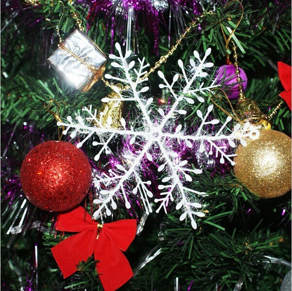 1Christmas Decorations 11/15cm White Snowflake Hanging Ornament Stereoscopic Snow flakes Home Xmas Tree Accessories - Bravo!! store