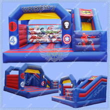Hot 2016 Superhero Commercial Inflatable Bounce House, Inflatable Castle China for Kids,Inflatable Bouncy Castle for Boys(China (Mainland))