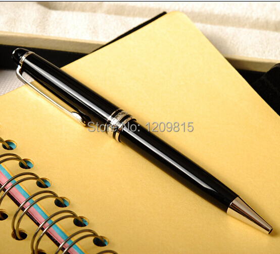 Unique design-Classic black163 ballpoint Pen with golden clip Stationery office/school supplies writing pen free shipping(China (Mainland))