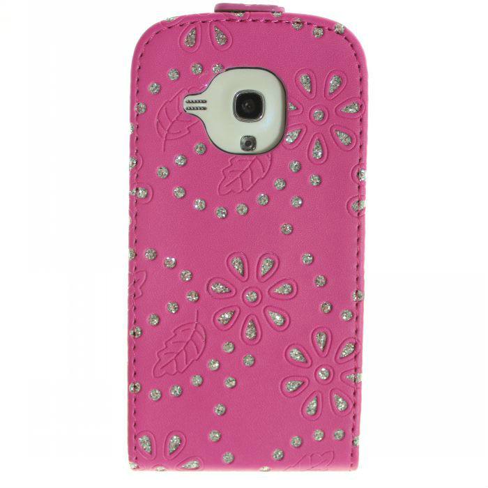 Blossom Flip Leather Bling Case for Samsung Galaxy S3 MINI I8190 for Samsung Galaxy S2 i9100 Cover Cell Phone Accessories(China (Mainland))