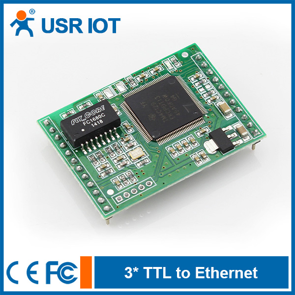 [USR-TCP232-E] Dual Serial Port, UART To Ethernet Converter Module With DHCP/HTTPD/MODBUS