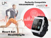 Ux bluetooth-смарт часы Smartwatch наручные часы пульсометр мониторинга для Samsung S6 HTC android-смартфоны телефон помощник IOS