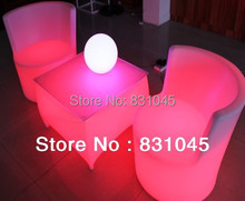 RGB remote control PE luminous furniture LED chair and table used for as bar chair ,home furniture ,nightclub,party(China (Mainland))