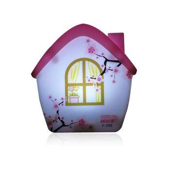 light sensor night light Energy-saving creativity Cartoon house style lamps #J002