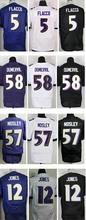 New 2016 New Roster Mens High Quality 100% Stitched Color Purple Black White Elite Jerseys Fast Shipping(China (Mainland))