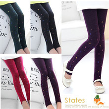 Spring New Baby Girls Stars Skinny Pants Kids Children Candy Color Legging Long Pants Trousres Bottoms Clothing 2-7T